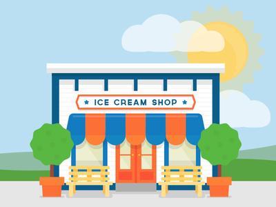 Ice Cream Shop drupal illustration flat shop simple blog
