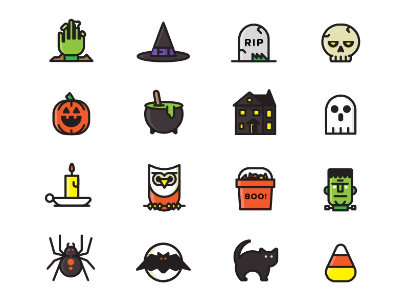 Free Halloween Icon Set free icons halloween drupal illustration simple fun