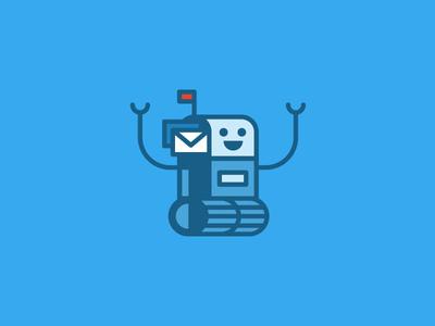 Mailbot illustration design simple icon mail robot fun drupal