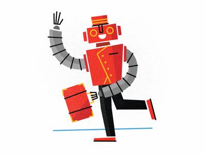 Bellboy Bot illustration design drupal robot bellman fun character