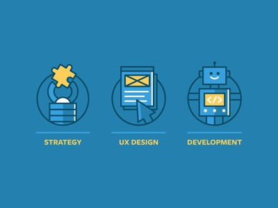 Service Icons drupal icons web design illustration icon simple graphic