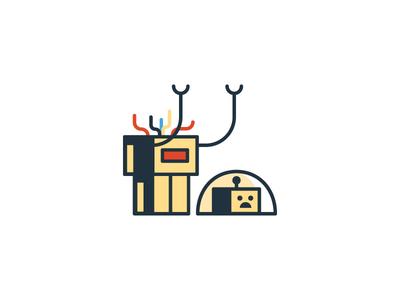Brokenbot drupal bot robot broken 404 illustration icon simple funny