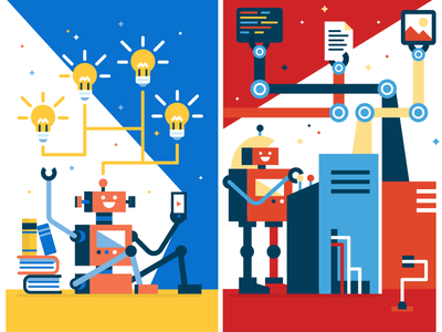DrupalCon Posters drupal illustration design fun robot simple