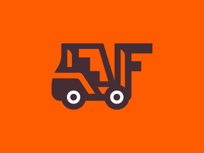 Forklift forklift simple branding illustration logo icon