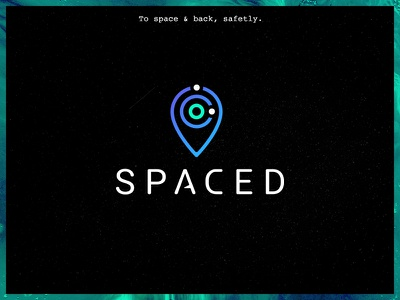 SPACED. space travel brancing challenge spaced design logo