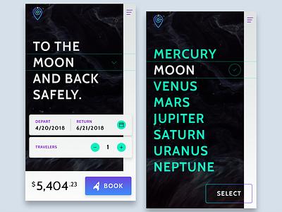 SPACED Mobile gif app future simple spacedchallenge ux ui design mobile