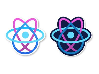 React + Drupal Stickers drupal simple design illustration sticker