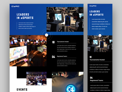 CYAC Website mobile gaming interactive web responsive design design web design
