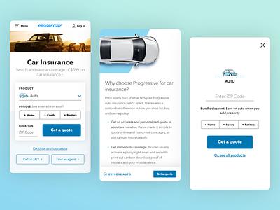 Progressive.com Redesign interaction insurance ux ui redesign design website