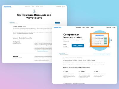 Progressive.com Redesign webdesign insurance interaction ux design ui