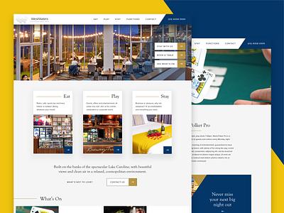 Entertainment Complex / Hotel user experience design web  design minimal design hospitality