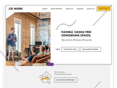 Co-working Space (Concept) web design