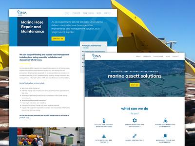 Marine Industry - Website web development web  design