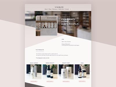 UI Design | Vim & Co web development web  design user experience design