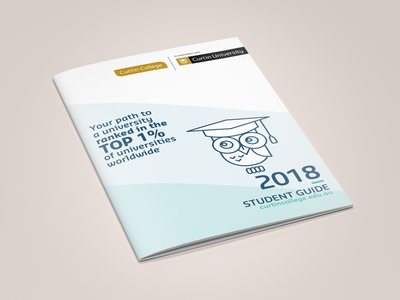 Curtin College Student Guide infographics brochure