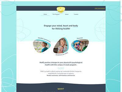MakeMyHealth logo design web design