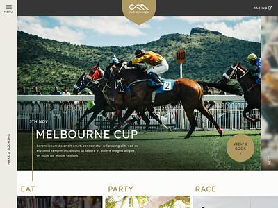 Website for Sporting Club ui design website design