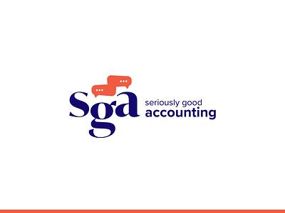 Seriously Good Accounting Logo brand identity branding logo design