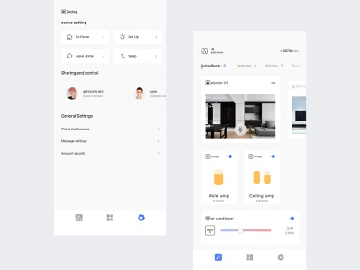 Concept smart home home smart tower interface icon app ui