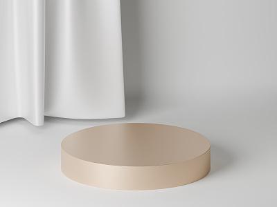 Beige podium illustration abstract showcase stand cylinder golden white fabric cloth podium blender 3d blender 3d render 3d beige