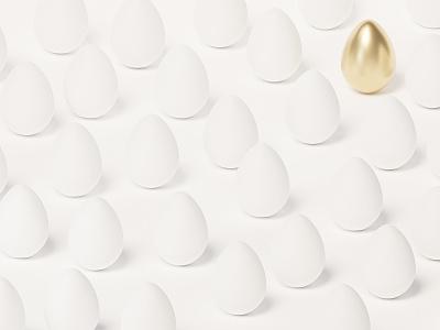 Golden egg white happy easter 3d render blender3d blender render 3d golden gold egg easter egg easter