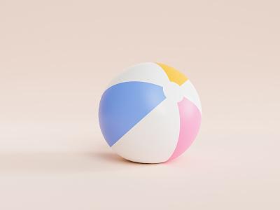 Beach ball play fun 3d render three-dimensional blender 3d render beach ball beach ball summertime summer