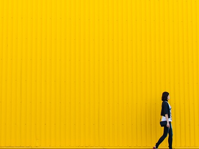 Yellow wall photography