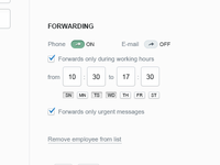 Pingbox - Forwarding settings