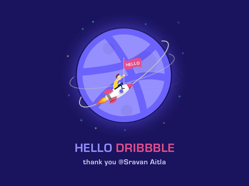 Hello Dribbble dribbble hello