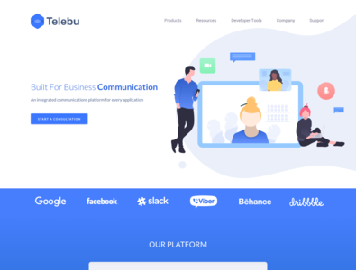Telebu Full Home page