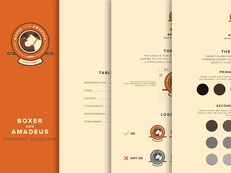 Brand Guidelines brand guidelines style guide branding colors boxers dog breeding breeder