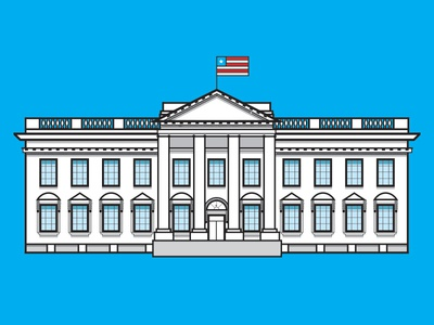 The White House (colored)