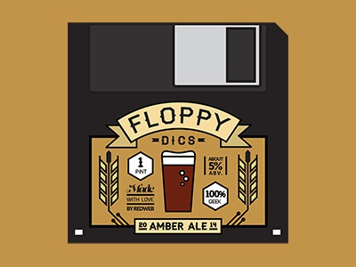 Floppy Dics Beer Label floppy dics beer label print floppy disc disc ale amber