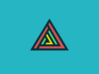 Just for fun geometric shapes colours icon