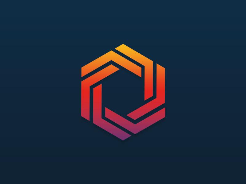 A bit of fun. icon geometric shapes logo gradient hexigon