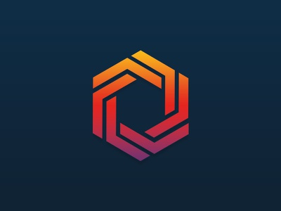 A bit of fun. icon geometric shapes logo gradient hexigon