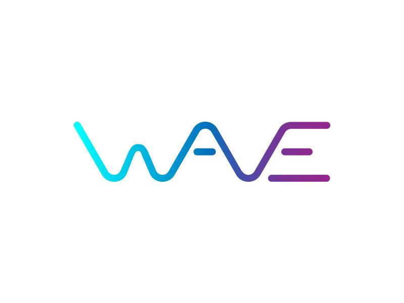 Wave logo branding simple lines waves logo