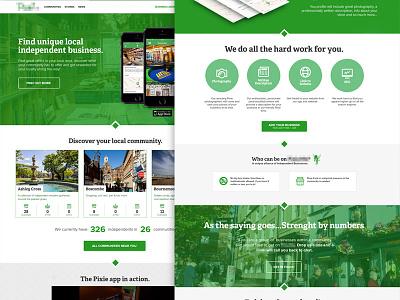 Community App Website visual design interface community app ui ux web