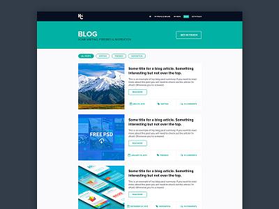 My blog blog visual design interface website personal portfolio ui ux web