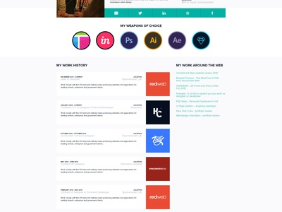 My profile page resume profile visual design interface website personal portfolio ui ux web
