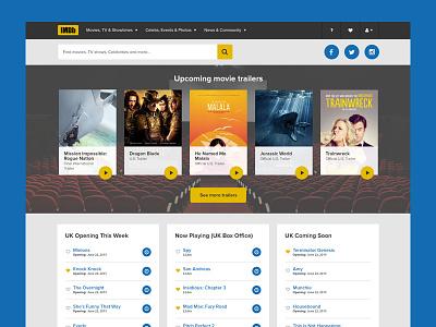 IMDB Redesign (exercise) visual design movies video ux ui imdb