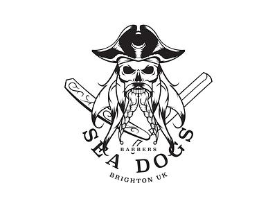 Sea Dogs Logo / Illustratrion branding barbers outline illustration logo