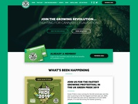 Brighton Cannabis Club web app interface ux ui