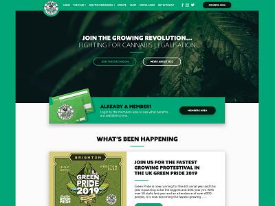Brighton Cannabis Club web app interface ux ui