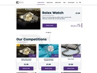 Ritzy Competitions app web design interface ux ui