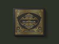 DOJA DOJA CBD Infused Chocolates design chocolate lines packaging logo illustration branding vector