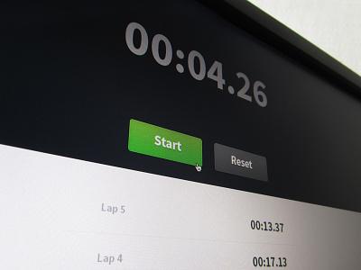 Stopwatch stop watch app application simple clean clock web start button realpixel os