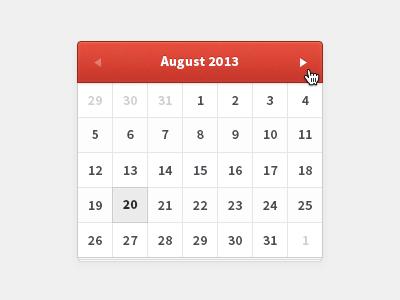mini Calendar web calc mini simple clear clean