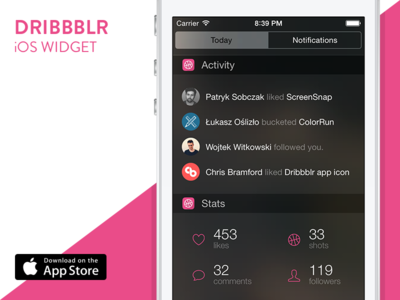 Dribbblr Widget for iOS