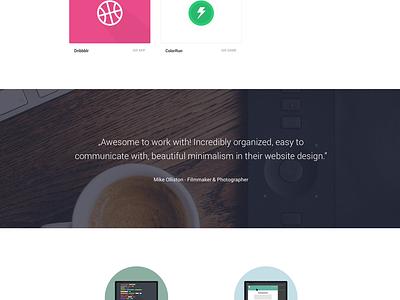 MakeTheWeb creative poland design minimalist simple landing web maketheweb portfolio